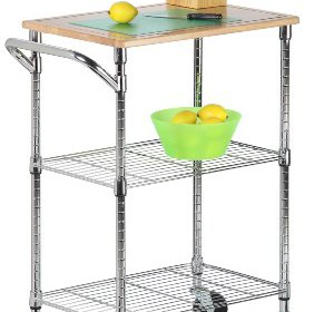 Honey Can Do SHF 01607 Kitchen Cart With Wheels And Cutting Board