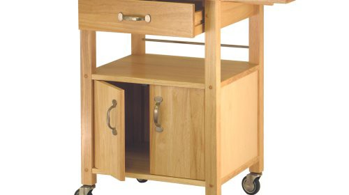 Winsome Wood Drop Leaf Kitchen Cart Rolling Drop Leaf Cart Is Ideal For  Small Kitchens That Need More Workspace Solid Beechwood Body With Brushed  Nickel ...