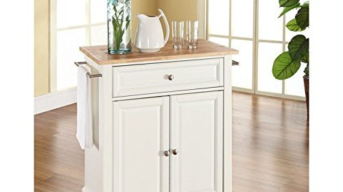 Crosley Kitchen Carts - Crosley kitchen island cart natural wood top