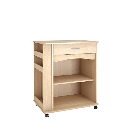 Nexera 597 Microwave Cart Natural Maple Finish Kitchen