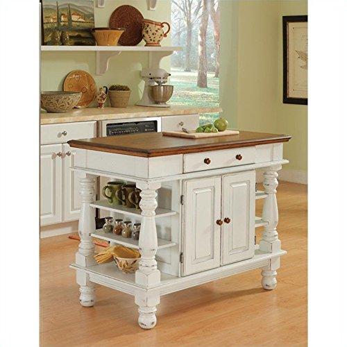 home styles 5094 94 americana kitchen island antique home styles white and oak finish large kitchen island