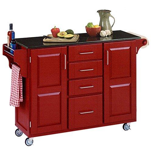 48 In Kitchen Cart In Cherry Finish Kitchen Carts