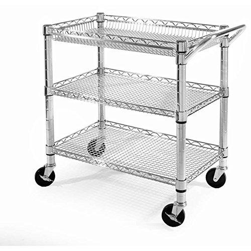 Seville Classics Home Kitchen Storage Heavy Duty Utility Cart