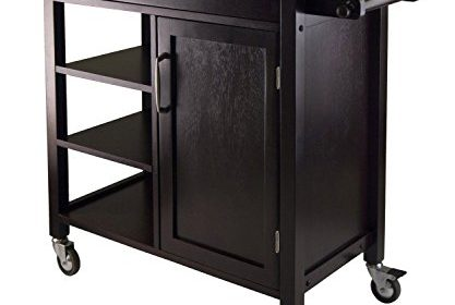 (Ship From USA) Winsome Mali Top Kitchen Cart Shelf Island Espresso Counter  Drawer Dinning Bar /ITEM NO#8Y IFW81854252767