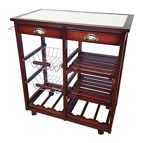 granite kitchen cart